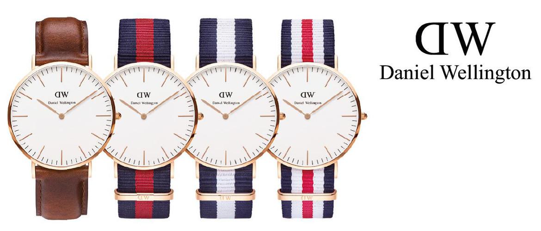 Slidergrafik zur Uhrenmarke Daniel Wellington