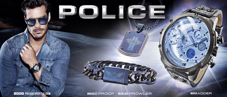 Slidergrafik zur Marke Police